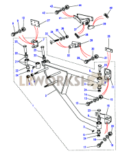 90SV - Spare Wheel Carrier Part Diagram