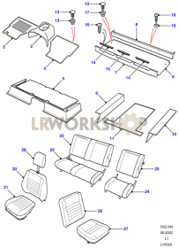 Defender Black - Seats And Carpets Part Diagram