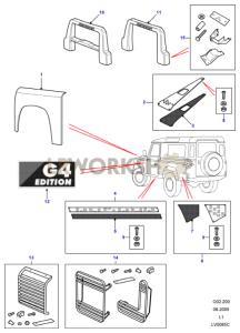 G4 Le - Rivestimento Esterno Part Diagram