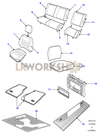 G4 LE - Interior Trim Part Diagram