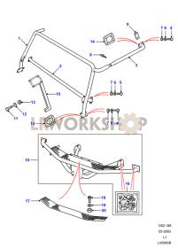 G4 Le - Gradino e Maniglia Part Diagram