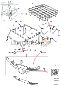 Tomb Raider - Rear Step & Roof Rack Part Diagram