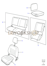 Tomb Raider - Seat Trim Part Diagram