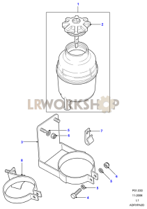 Power Steering Reservoir - Plastic Part Diagram