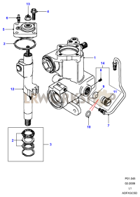 Sector Shaft - Adwest Lightweight Part Diagram
