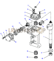 Sector Shaft & Worm & Valve - Gemmer Part Diagram