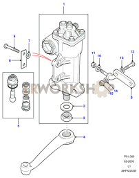 Steering Box - Manual - Adwest Part Diagram