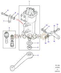 Steering Box - Manual - Gemmer Part Diagram