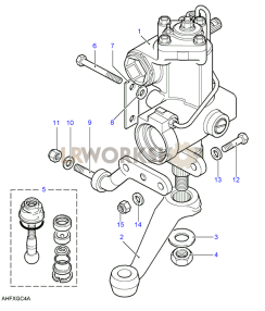 Steering Box - Power - Adwest - Lightweight Part Diagram