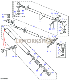 Track Rods & Damper Part Diagram