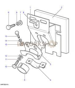 Steering Column Top Support Part Diagram