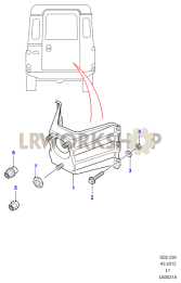 Spare Wheel - Rear End Door Part Diagram
