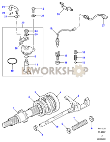 Front Output Shaft Part Diagram