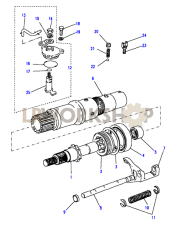 Front Output Shaft - 13D Part Diagram