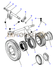 High/Low Gear - 13D Part Diagram