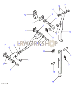 Rod Assembly - LT77S - Without Pivot Part Diagram