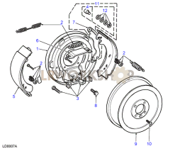 Transmission Brake - Direct Entry Cable Part Diagram