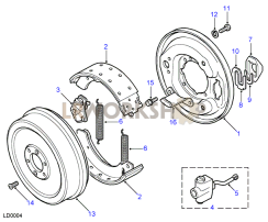 Transmission Brake - Rod Operated Part Diagram