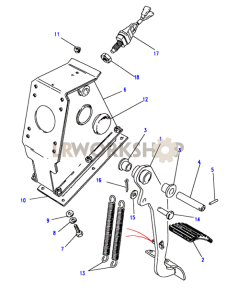 Brake Pedal Part Diagram