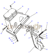 Clutch Pedal Part Diagram