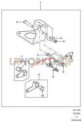 Hand Throttle - Additional Parts Part Diagram