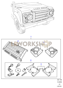 Headlamp Surrounds And Grille - SVX Part Diagram
