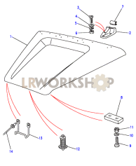 Bonnet Assembly - Hand Operated Part Diagram