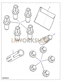 Locking Wheel Nuts Part Diagram