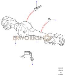 Axle Case Assembly Front Part Diagram