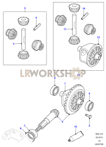 1300_crownwheel_and_pinion front axle diagrams land rover workshop axle diagram at gsmx.co