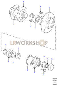 Front Hub Part Diagram