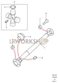 Propshaft Rear Part Diagram