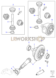 Crownwheel And Pinion - 2 Pinion Part Diagram