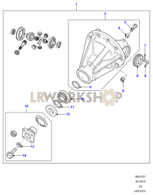 Differential Assembly 110/130 Part Diagram
