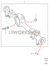 Rear Axle Case Assembly Part Diagram