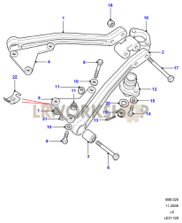 Top Link, Fulcrum & Ball Joint Part Diagram