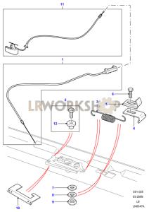 Bonnet Release Part Diagram