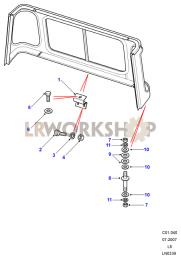 Cab Body Panel Fixings Part Diagram