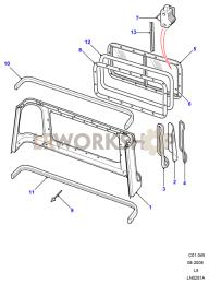Cab Body Panel Rear Part Diagram