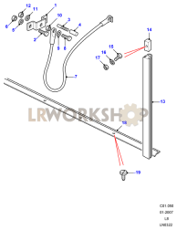 Cable - Rear Body Tailgate Part Diagram