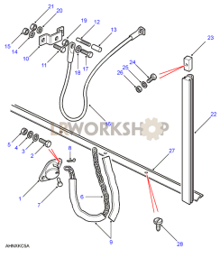 Rear Body Tailgate Cable Part Diagram