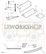 Chequer Plates - Exterior Part Diagram