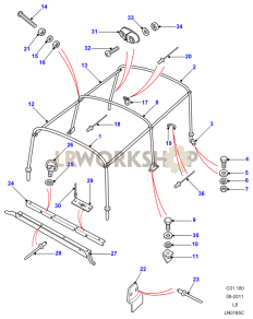 Hoodsticks - Bulkhead Fixing Part Diagram