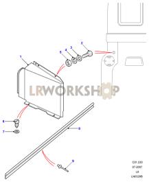 Rear Body Lamp Covers Part Diagram