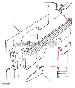 Rear Body Lower - Inner Panels Part Diagram