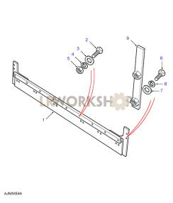 Rear Body Lower - Toe Panel Part Diagram