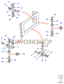 Rear Body Upper Fixings Part Diagram