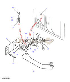 Rear End Door Check Mechanism - With Torsion Bar Part Diagram