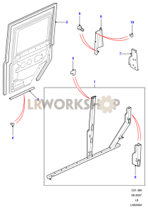Rear Side Door Frame Part Diagram