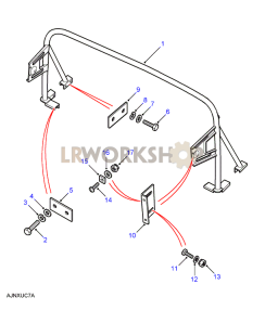 Roll Protection Bar Part Diagram